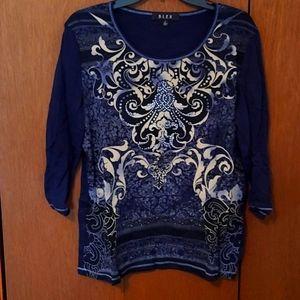 3/4 sleeve embellished tee shirt